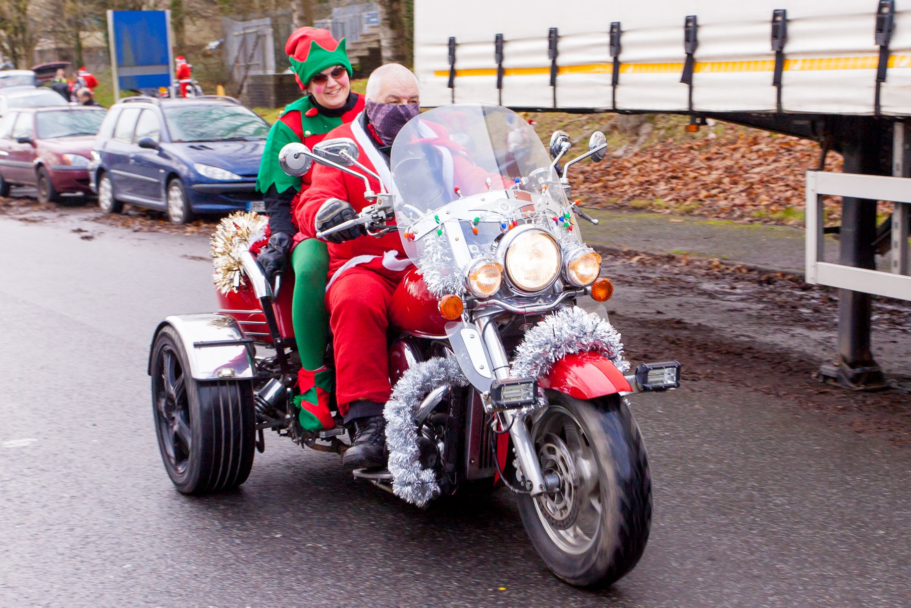 Santas on a Bike will be a little different this year but keep an eye out between 4 - 6 December