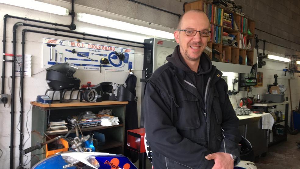 Devon Freewheelers: Photo shows Jessi Little in his Offwell workshop.  Credit: Devon Freewheelers