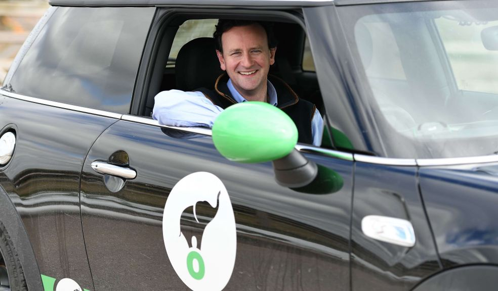 Man sitting in Lightfoot Car