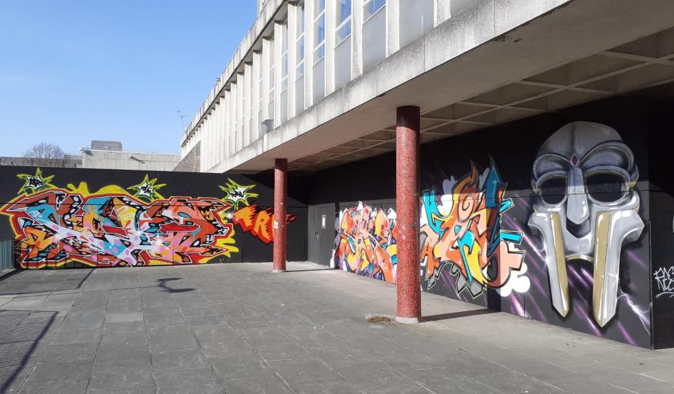 Graffiti Jam brings Civic Centre hoardings to life