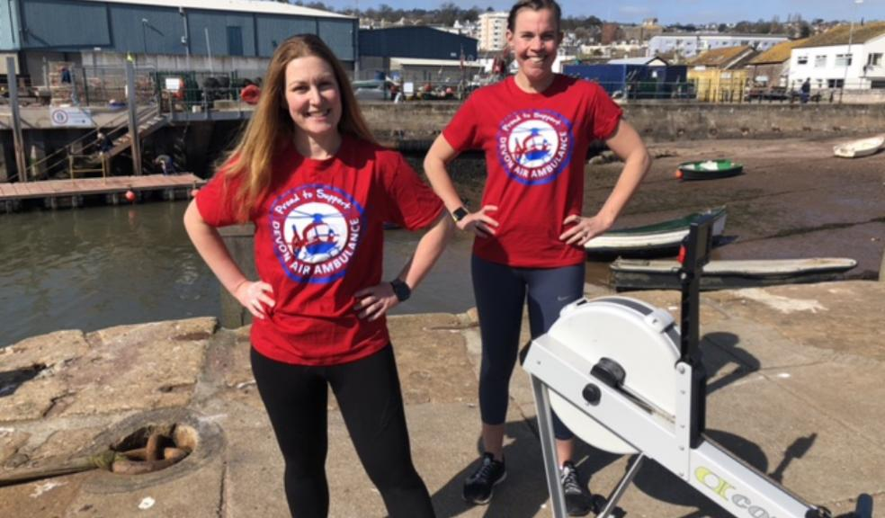 Rowing enthusiasts Sarah Luxton and Lucy Bufton
