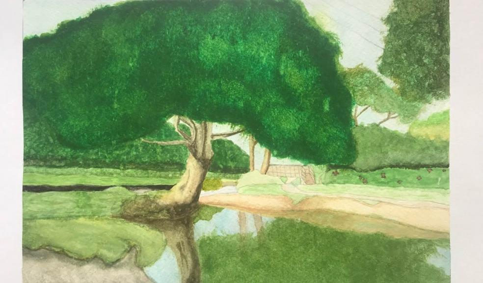 One of the winning paintings 'Mannings Pit' by Graciella Sillence-Dreyer from Barnstaple's Pilton Bl