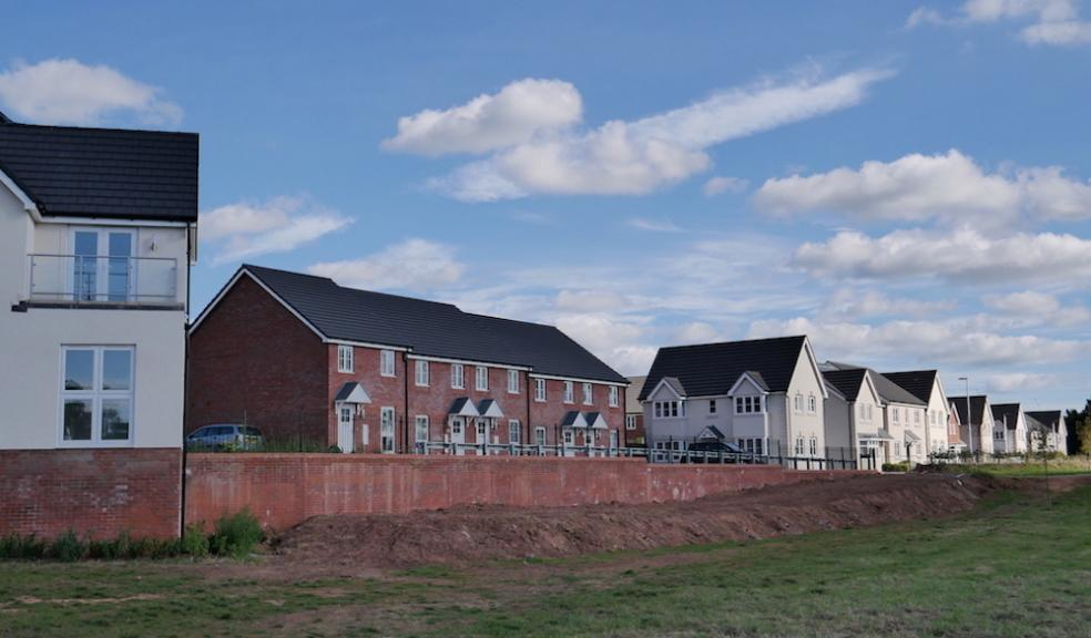 New homes in the East Devon town of Cranbrook