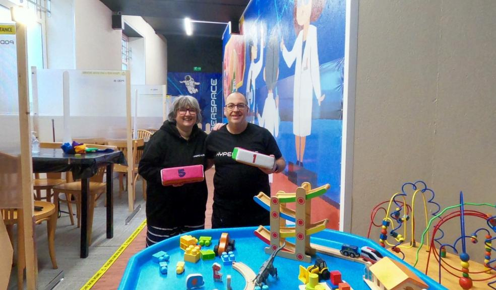 Mike and Lesley Morrison at Hyperspace Paignton, Parent and toddler group