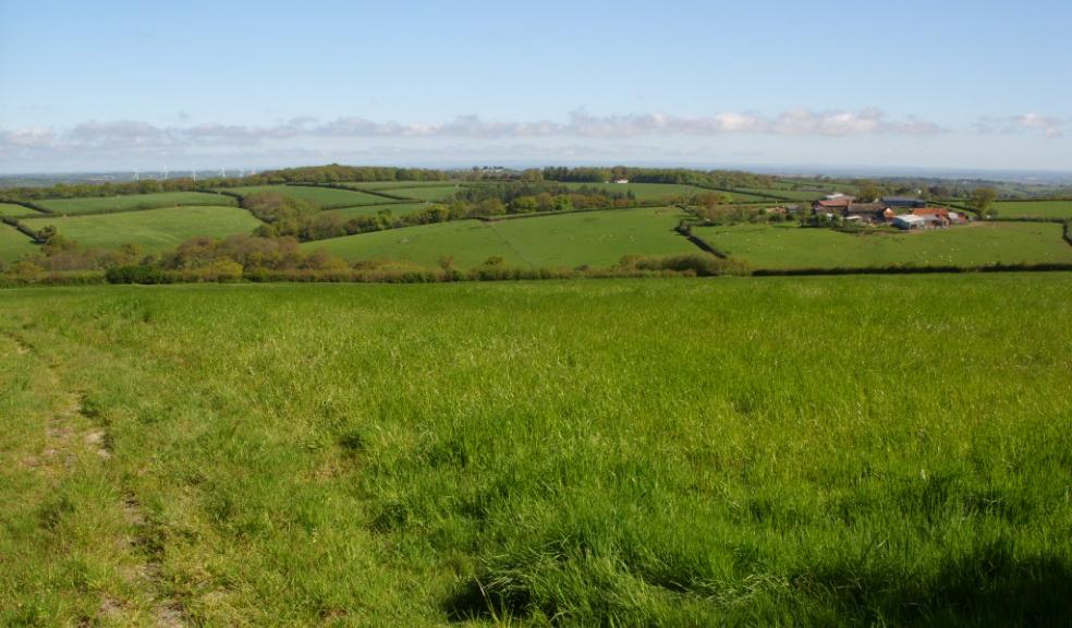 A view of open countryside beside the A30 where a retail development has been refused consent