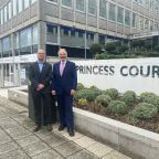 Two directors from The Family Law Company outside Princess Court in Plymouth