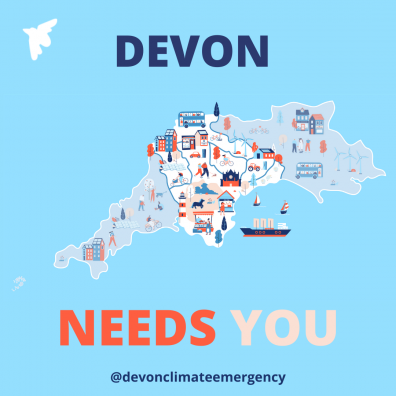 Devon Needs You graphic @devonclimateemergency