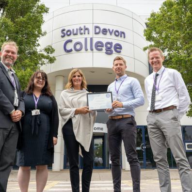 Gatsby Benchmark awarded to South Devon College