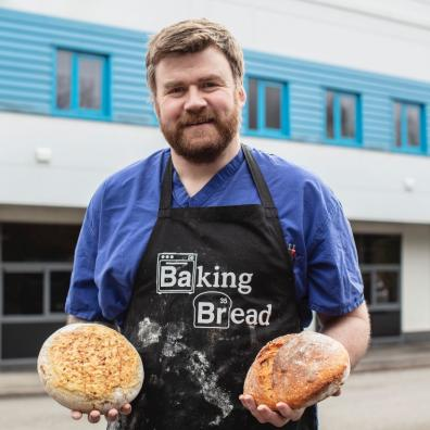 James Potter, whose extraordinary career includes a number of firsts, with some of the bread for whi