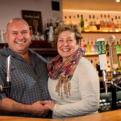Pub landlord and landlady Volunteer Inn Ottery St Mary