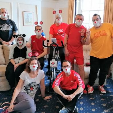 Staff at Sefton Hall raise hundreds for Comic Relief