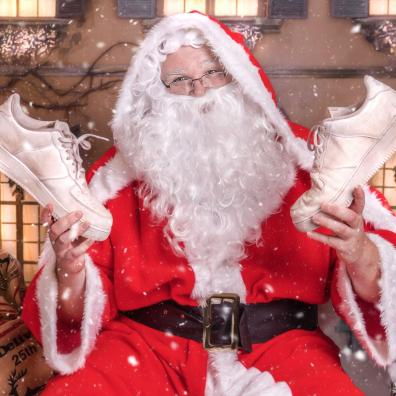 Santa has got his trainers at the ready